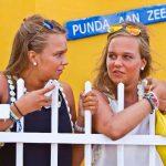 Studenten Punda aan Zee Curacao