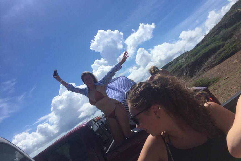 Stagelopen op Curacao