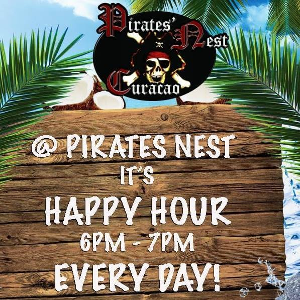 Pirate Nest Happy Hours Curacao