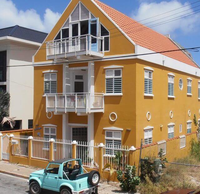 Studentenhuis Punda aan Zee Curacao