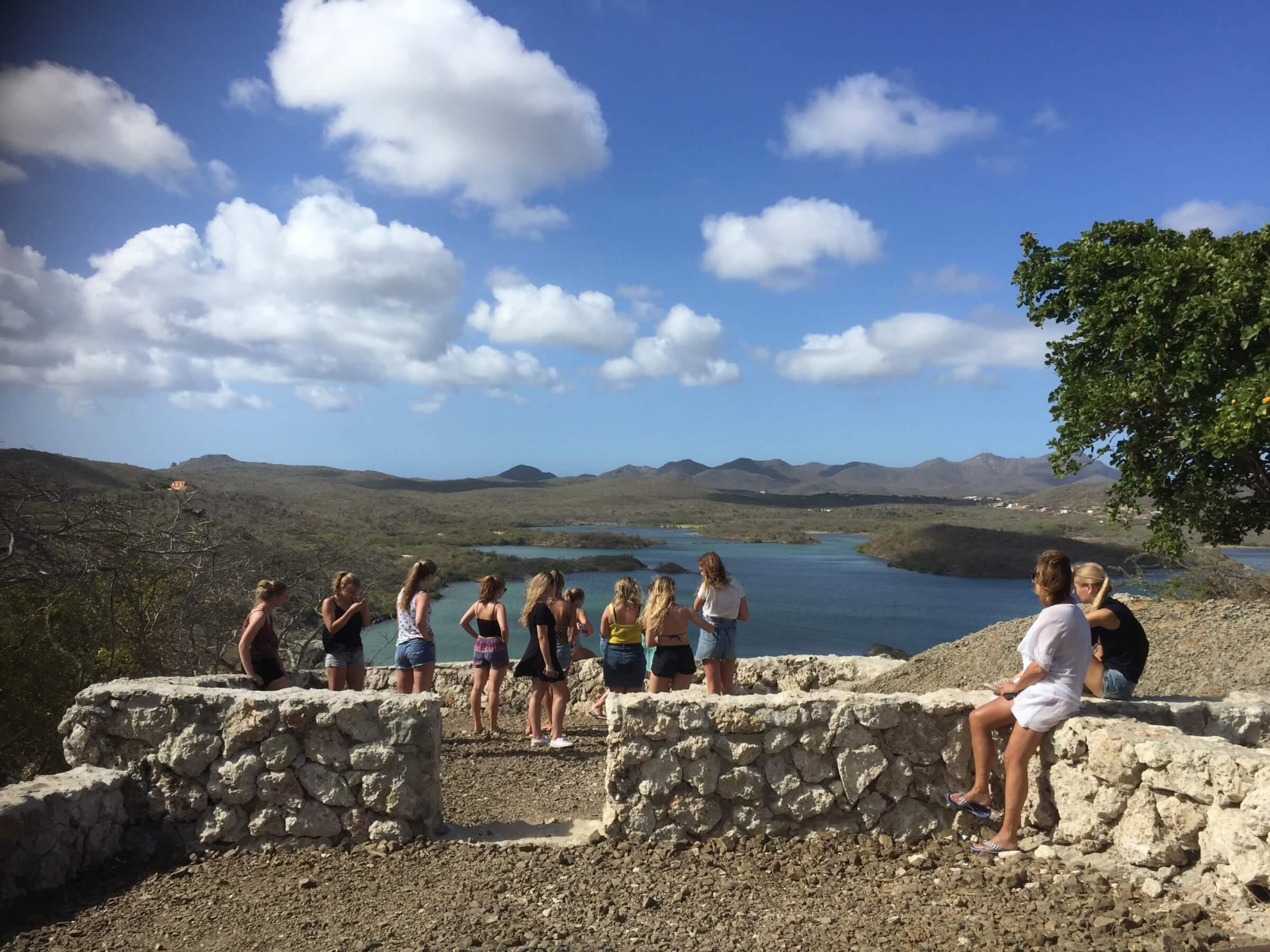 Met studenten op stap Curacao